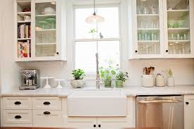 cabinets u0026 drawer white painted wooden glass farmhouse kitchen