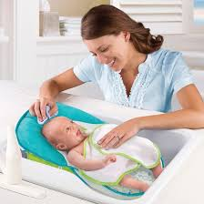 Bathing A Baby In A Bathtub Summer Infant Folding Bath Sling With Warming Wings Target