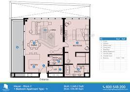 floor plan of mayan yas island