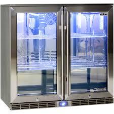rhino 2 door alfresco glass door bar fridge outdoor ip34 rated
