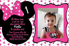 Free Printable Minnie Mouse Invitation Template by Minnie Mouse 1st Birthday Invitations Marialonghi