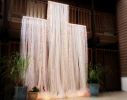 wedding backdrop altar backdrop tulle handmade lighted backdrop for