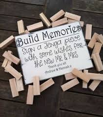 alternative guest book alternative guest book wedding sign build memories jenga sign