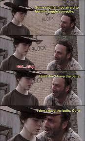 Rick Carl Memes - rick doesn t have balls mia s wonderful folder pinterest