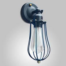 2018 vintage light industrial lamp loft iron art cage e27 edison