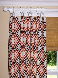 elegant orange geometric curtains inspiration with orange