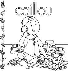 caillou coloring pages wecoloringpage