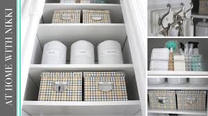 home organization how to organize your utility closet youtube