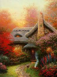 kinkade signed and numbered limited edition canvas autumn