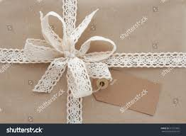 christmas present gift box wrapped natural stock photo 517551865