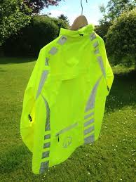 high visibility waterproof cycling jacket inclyne xp2 hi vis waterproof cycling jacket size large in