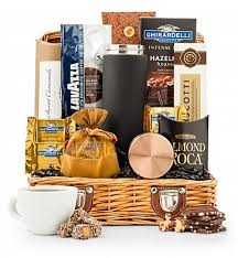 coffee and tea gift baskets italian roast coffee chest gifttree