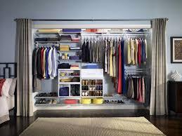 wardrobe storage closet with hanging rod storage designs