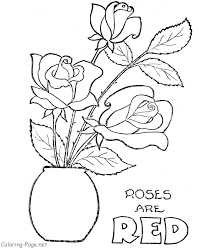 printable rose pictures kids coloring