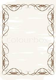 vintage frame ornament and element for decoration and design