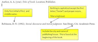 apa format citation book exle book reference apa style proyectoportal ideas of apa format