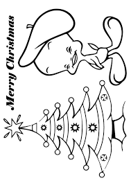 tweety bird hat celebrating christmas coloring pages