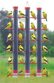 essentials triple tube finch bird feeder