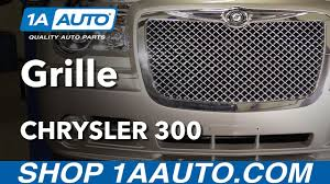 how to install replace front grille 2006 chrysler 300 youtube