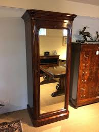 Victorian Armoire Wardrobe Armoire Jewelry Mirror Antique French Louis Xvi Single Door Shabby