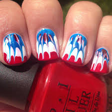 american tie dye fourth of july nails polish me please