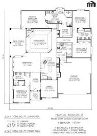 Contemporary One Story House Plans by 100 House Plans 2000 Square Feet One Story 6 Bedroom