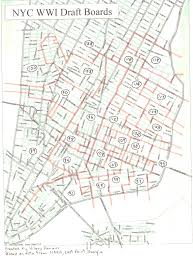 Street Map Of Boston by World War I Draft Registration Cards