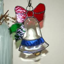 Glass Bell Christmas Ornaments - bells of christmas in stained glass by stainedglassandpens on etsy