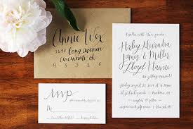 informal wedding invitations miller s informal calligraphy wedding invitations