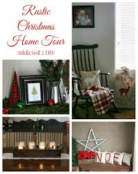 rustic christmas home tour 2014 addicted 2 diy
