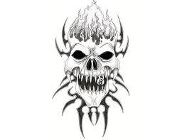 designs free tribal evil skull tabatha