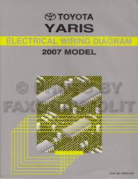 2007 toyota yaris wiring diagram manual original
