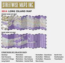 Map Of Hamptons New York by Streetwise Long Island Map Laminated Regional Road Map Of Long