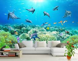 photo any size underwater world tv wall mural 3d wallpaper 3d wall see larger image