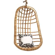cool egg shape rattan swingasan chair design hanging with chains