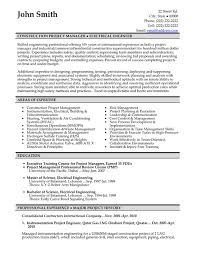 profile summary in resume example for construction project manager