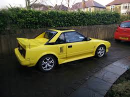 yellow toyota toyota mr2 mk1 1989 yellow 111k miles 795 ono sold