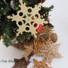 wooden snowflake snowflakes ornament garland snowflakes