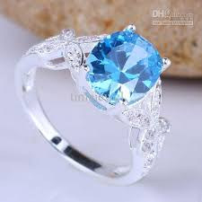 butterfly wedding rings images 2018 lovely newest design oval cut blue cubic zirconia lady silver jpg