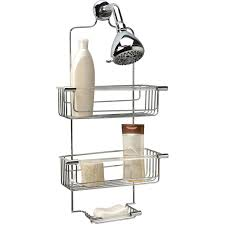 bath bliss 3 tier acrylic tube shower caddy chrome walmart com