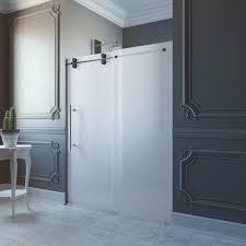 vigo elan 60 in x 74 in frameless bypass shower door in chrome