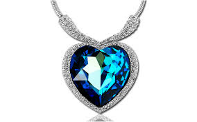 diamond blue necklace images Blue diamond necklace necklace png