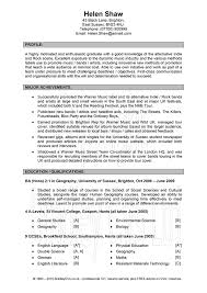 Sample Of Perfect Resume by Example Of A Good Resume Berathen Com