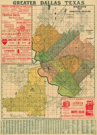 Home Decor Dallas Texas Old Dallas Texas Map Vintage Historical Map Antique Restoration
