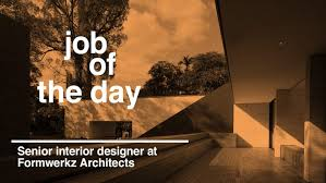 Interior Design Job Search by Job Of The Day Senior Interior Designer At Formwerkz Architects
