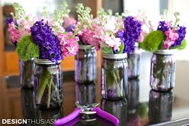 jar center pieces using jar centerpieces to add color to your table settings