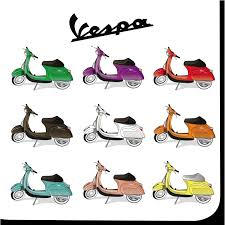 i might buy a good vespa and get it painted united colors of