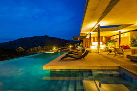 blue fountain pools geometric pools