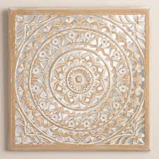 this striking of wall decor is carved by artisans in