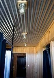Tin Ceiling Lights 17 Corrugated Steel Basement Ceiling Shelterness Basement